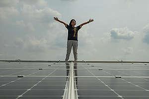 First Solar Hospital Launch in Thailand. © Greenpeace / Arnaud Vittet
