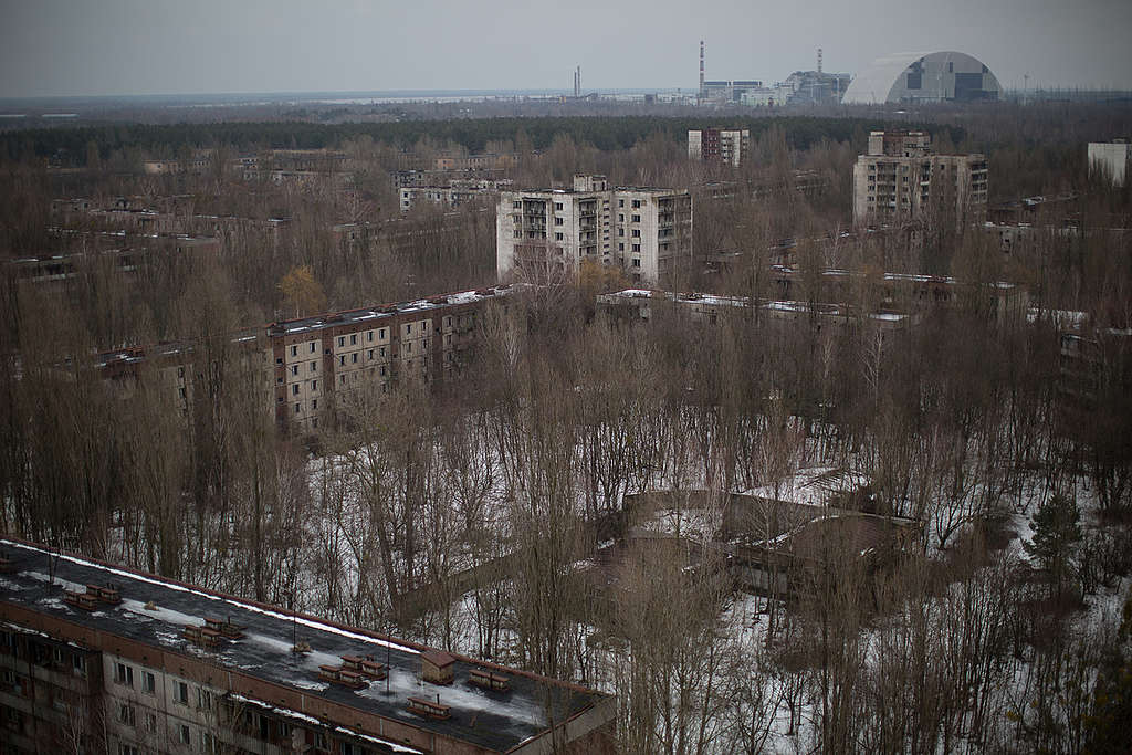 Abandoned City of Pripyat in Ukraine. © Denis  Sinyakov / Greenpeace