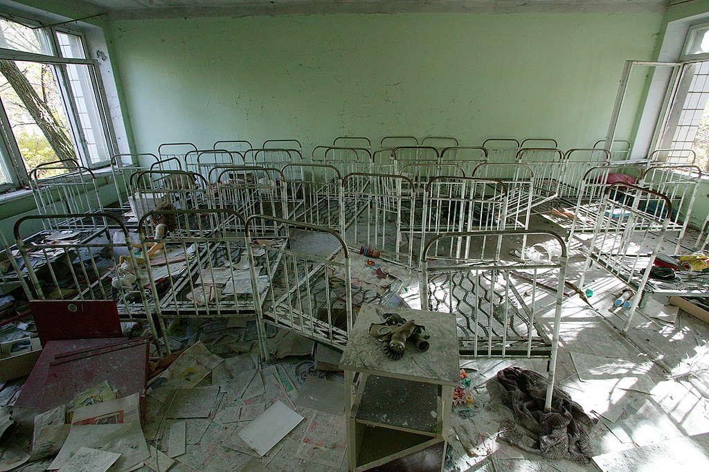 Chernobyl Nuclear Disaster Locations. © Greenpeace / Steve Morgan