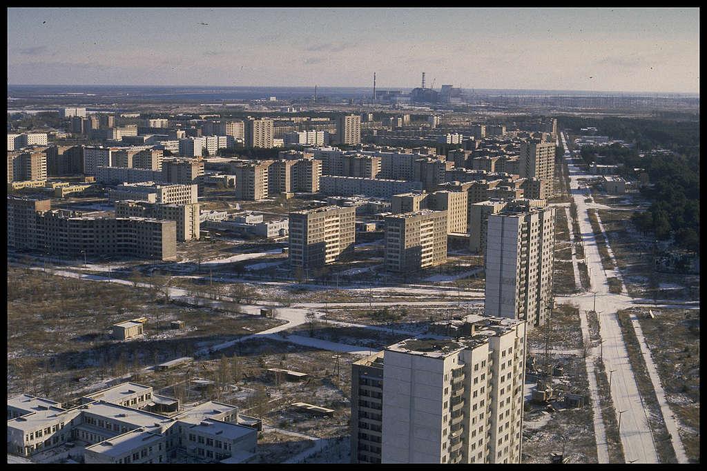 Deserted City of Pripyat. © Clive Shirley / Signum / Greenpeace
