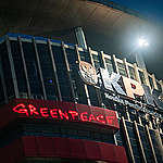 """""""Save KPK"""", Greenpeace Indonesia projects message in protest against weakening of the anti-graft agency"""