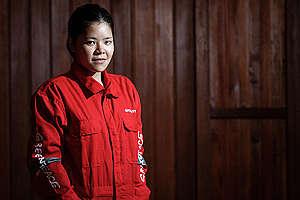 Greenpeace Indonesia Activist Waya Mameru. © Dhemas Reviyanto / Greenpeace