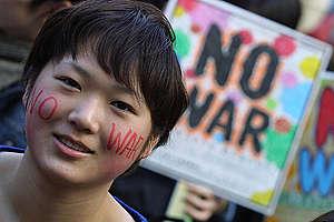 No War Demonstration in Japan. © Greenpeace / Jeremy Sutton-Hibbert