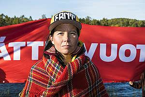 Sami Action in Lapland. Jonne Sippola / Greenpeace