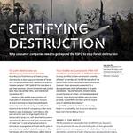 Certifying Destruction