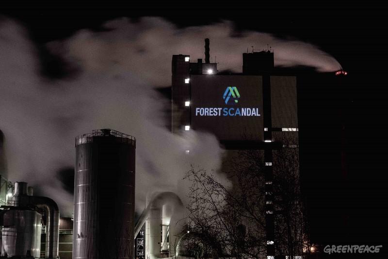 Scandal projiceras på Örstrand massafabrik