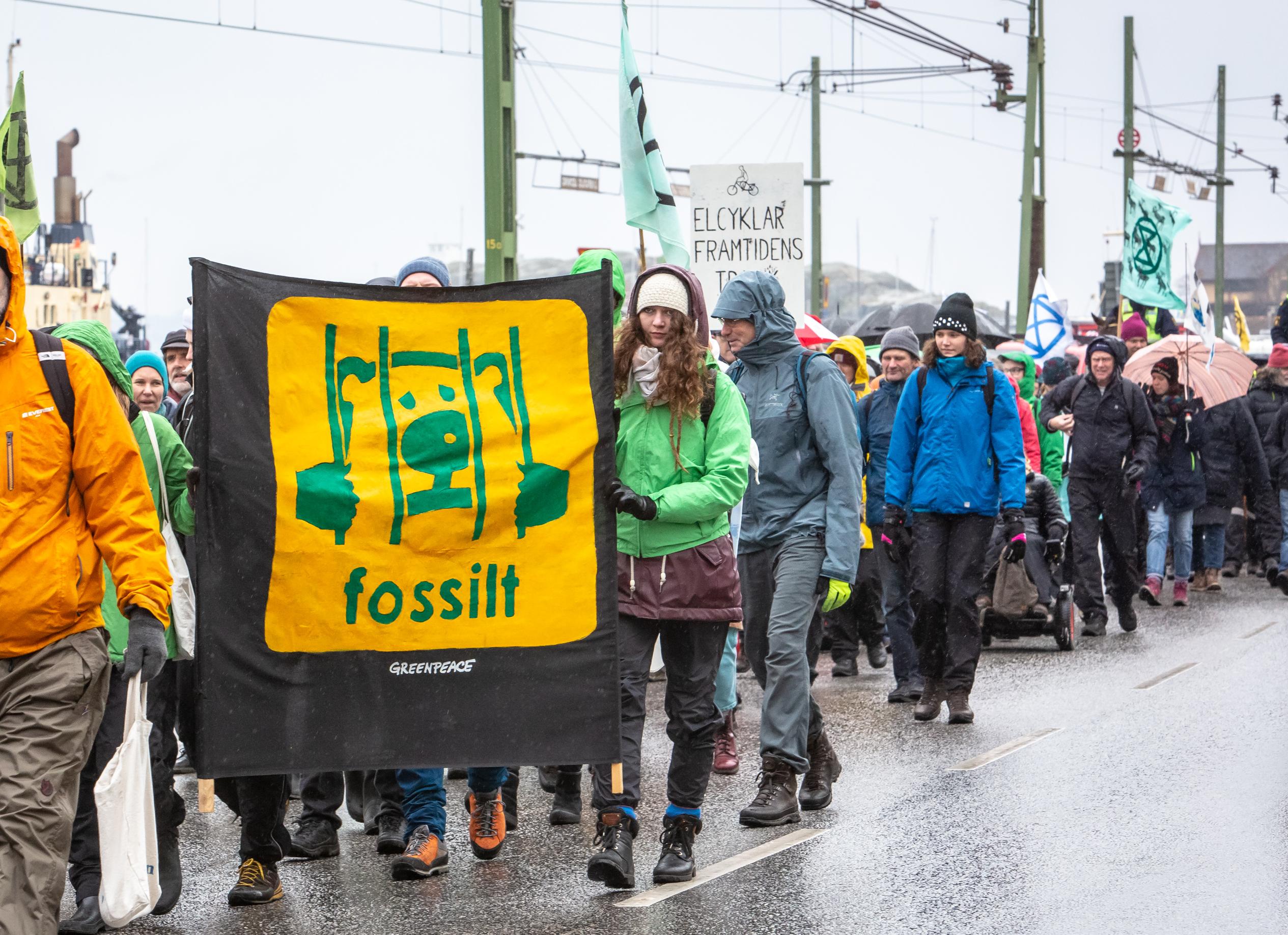 Protester i Lysekil 10 mars
