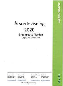 Greenpeace årsredovisning 2020