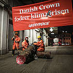 Aktivister i protestaktion mot danska svin