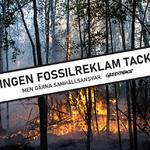 Greenpeace går samman med över 20 andra europeiska organisationer för att få till ett fossilreklamförbud