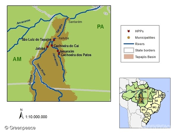 塔帕若斯河流經範圍。