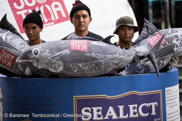 泰國泰聯總部外抗議:重視漁工權益,保護海洋