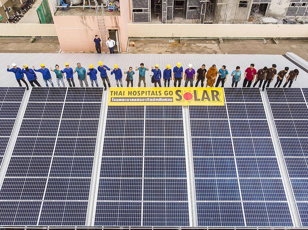 泰國皇家蘇安醫院(Luang Suan Hospital)是在綠色和平太陽能改革計畫中,第二間完成建置太陽能板的醫院。