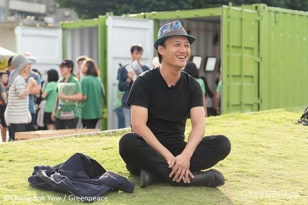 歌手吳志寧也熱情參與綠日子。
