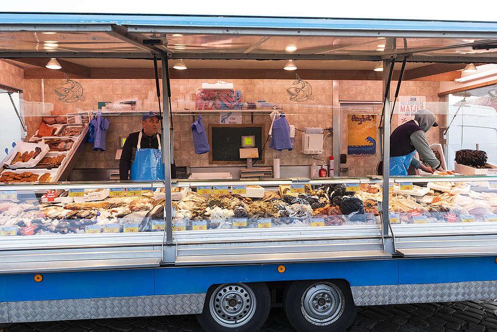 漢堡漁市場的淡菜和蝦。
