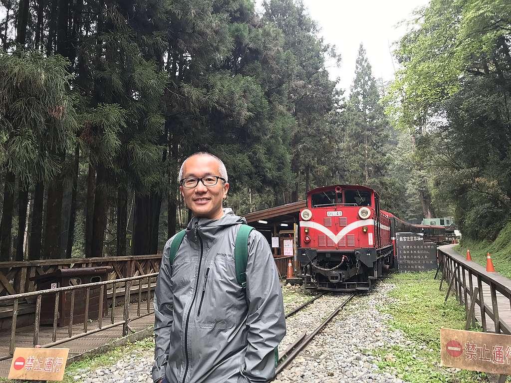綠色和平東亞分部執行總監施鵬翔來自香港,近年移居臺灣,看見許多臺灣民眾關心環境議題,令他十分感動。