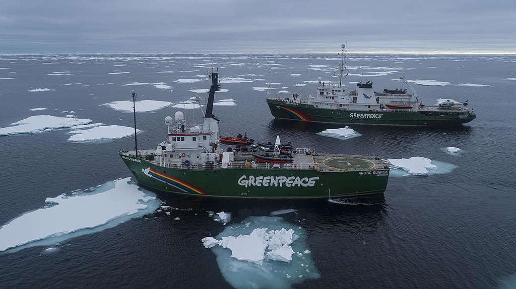 綠色和平船艦於2019年5月,從北極出發進行近1年的保護海洋之旅,跨越大西洋七個站點,調查與研究海洋所面臨的威脅。