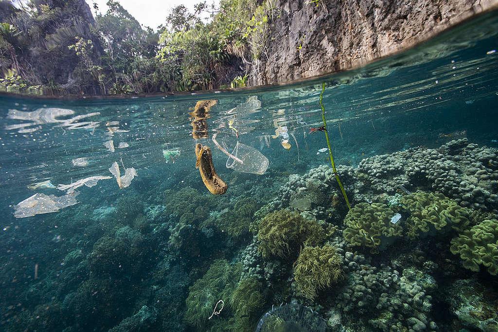 塑膠垃圾常常出沒在海面上,破壞生態甚至影響人類健康。
