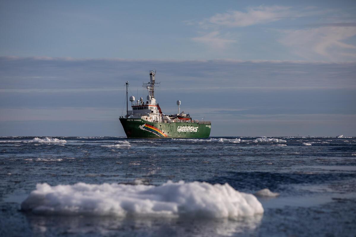 2020年9月14日,綠色和平船艦「極地曙光號」前往北極,專案團隊與科學家將研究北極海冰消融狀況,記錄海冰最低點(sea ice minimum)科學實證。