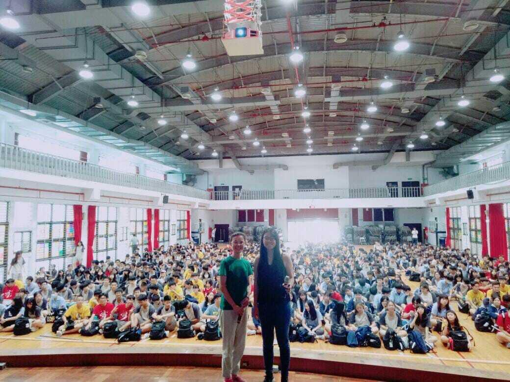 2020年6月19日,綠色和平校園演講推廣講師曾意婷於新莊高中講演,同學互動踴躍。