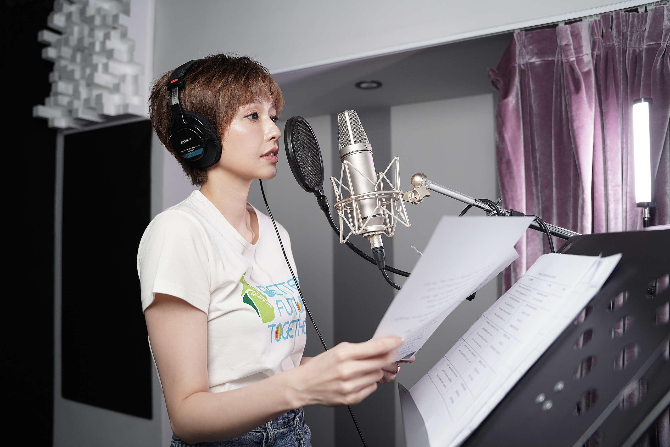 臺灣演員袁艾菲與綠色和平合作,為動畫短片配音,呼籲大眾關心亞馬遜森林專案。
