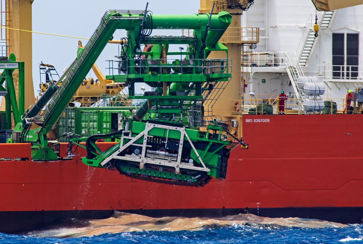 2021年4月11日,綠色和平於太平洋上記錄到GSR所雇用的Normand Energy船隻,正在進行海底採礦導航機Patania II測試,結果發生操控失靈而使整臺機器留在海底。
