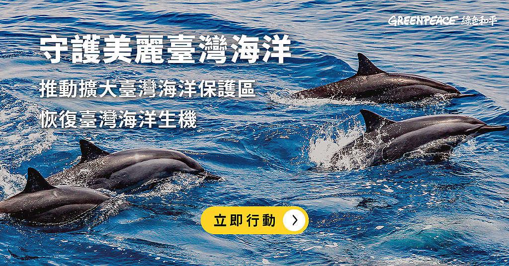 守護美麗臺灣海洋,擴大臺灣海洋保護區,重現海洋生機