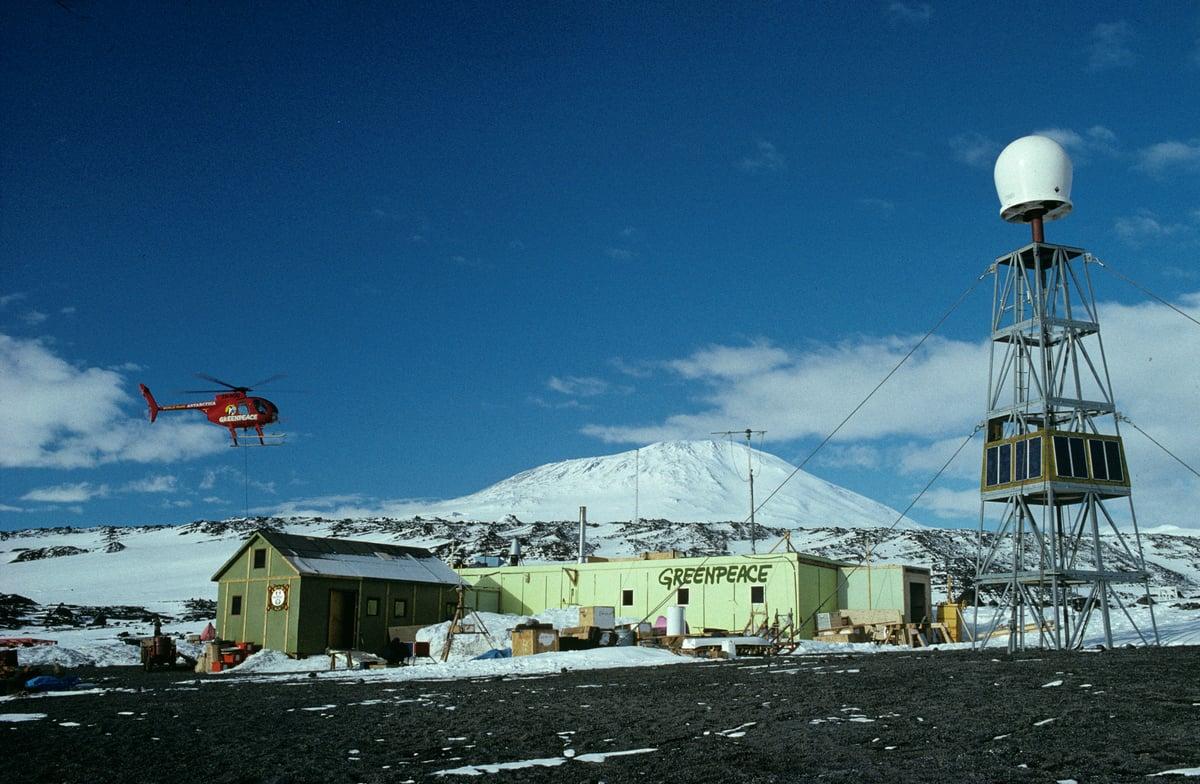 1989年,位於南極的綠色和平世界公園基地(World Park Base)。