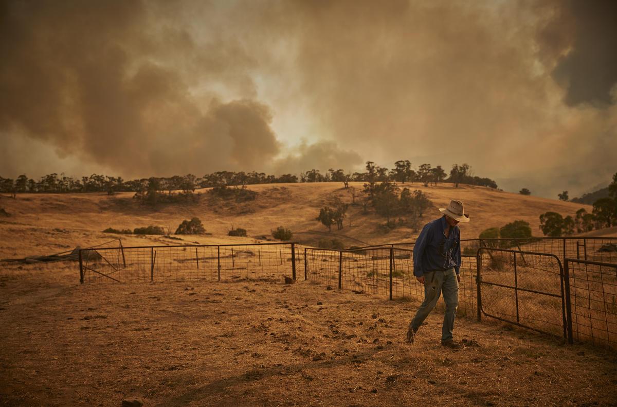 澳洲大火肇因於氣候變遷:乾燥的澳洲南部提早開始旱季,加上氣溫最高達到攝氏 48.9 度,形成一觸即發的易燃狀態。