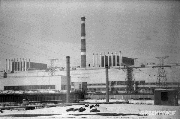 Reactor 1 and 2 at Chernobyl Nuclear Plant © Greenpeace / Stefan Füglister