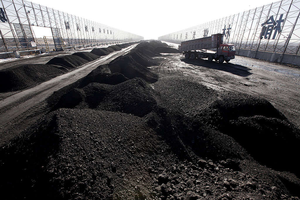 Coal Transfer Station in China. © Nian Shan / Greenpeace