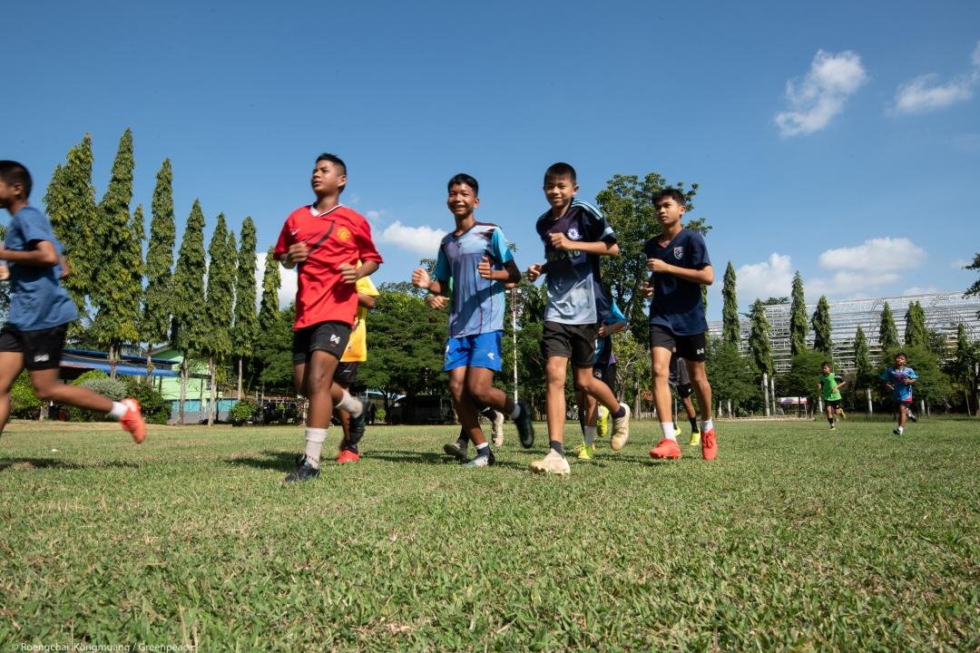 นักเรียนโรงเรียนบ้านปุน ในหลักสูตรพิเศษทักษะด้านกีฬา