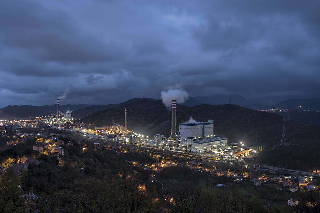 Coal-fired Power Plant in Turkey. © Caner Ozkan / Greenpeace