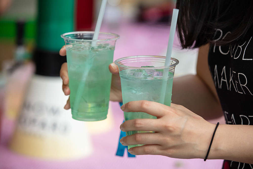 Single-Use Plastic Products in South Korea. © Greenpeace