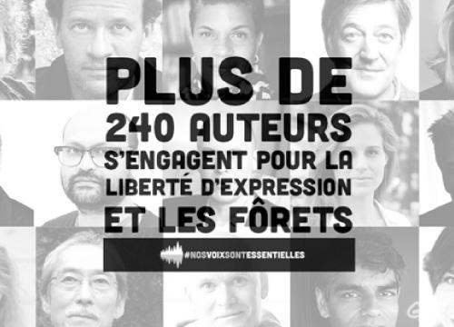 240 auteurs du monde entier soutiennent la liberté d'expression avec Greenpeace | Greenpeace