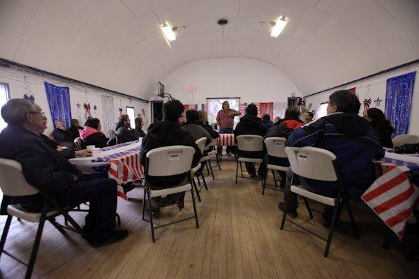 Community Meeting on St. George Island, Bering Sea Alaska