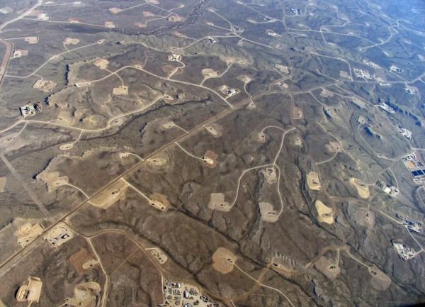 Skytruth photo of fracking wells in western U.S.