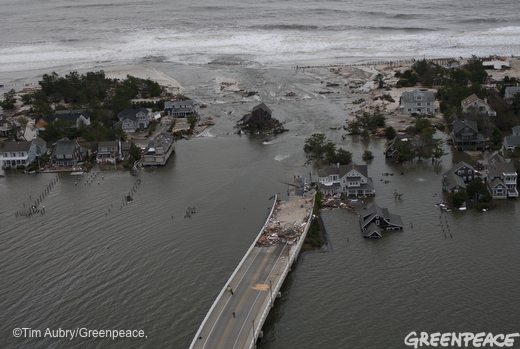 Aerial views of damage caused by Hurricane Sandy along the New Jersey coast on October 30, 2012.
