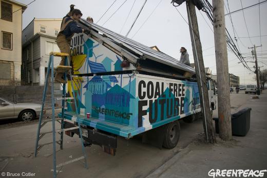 Solar panel trucks helping to light Rockaway Beach neighborhood