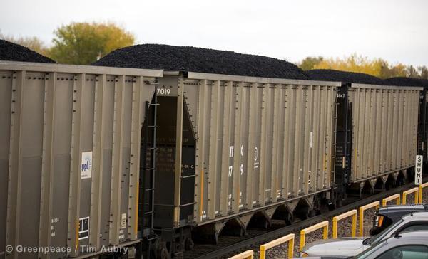 BNSF Coal Train in USA