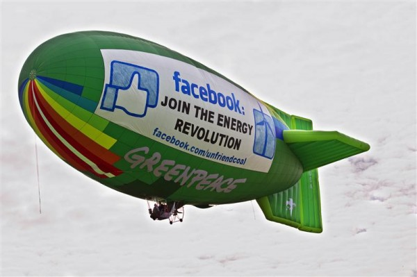 Airship Flies Over Facebook HQ in USA