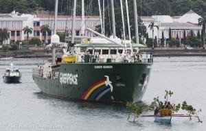 Rainbow Warrior Arrives in Jayapura