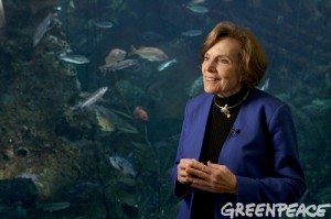 Dr. Sylvia Earle, Oceanographer, National Geographic Explorer In-Residence, and Mission Blue Founder attends the Hope Spots reception at the Seattle Aquarium in Seattle