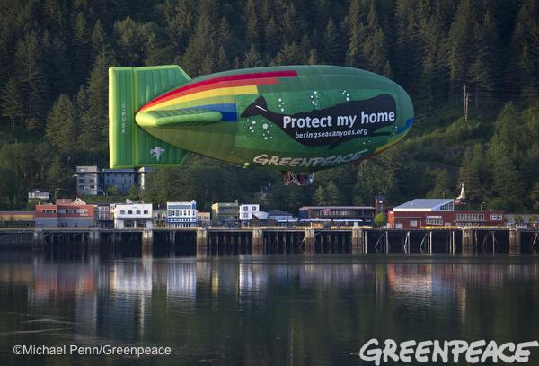 Whale-Themed Airship Flies Over Juneau, Alaska