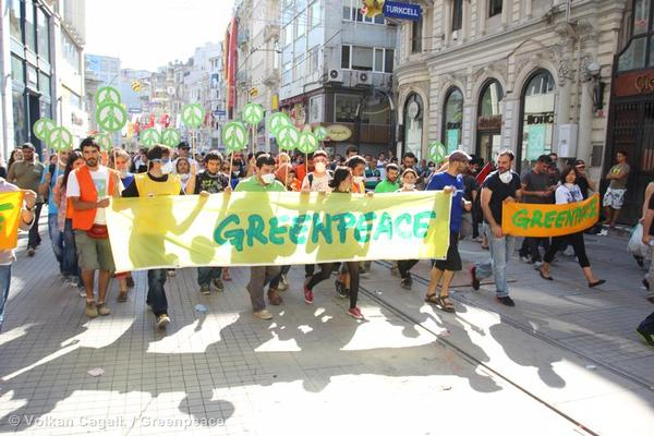 Greenpeace Condemns Brutal Police Clampdown On Peaceful Gezi Park Protest.