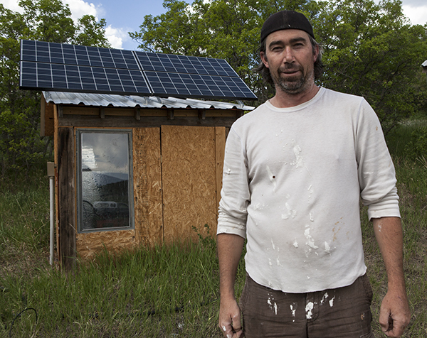 Small scale rooftop solar in the Huerfano Valley of Colorado. Off the grid energy independence.