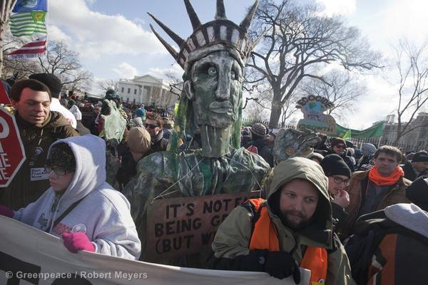 Statue of Liberty at the White House