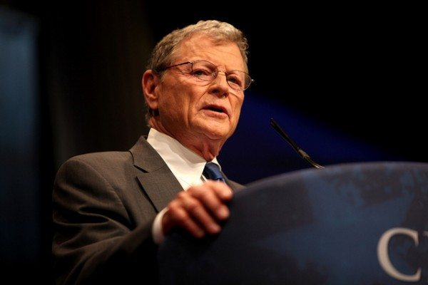 Google is raising money for James Inhofe, notorious climate denier. Image from Flickr