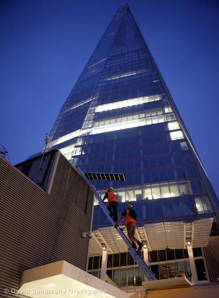 6 Women Climb the Shard, London, UK