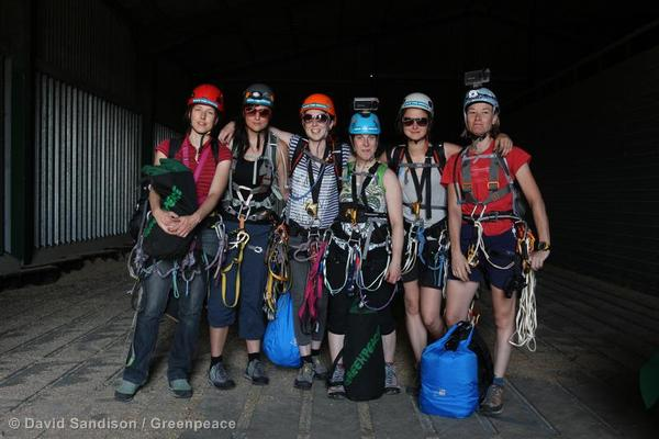 Victoria, third from the left, with her fellow climbers.